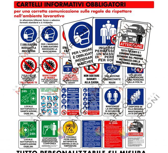 Cartelli Covid-19 Stamperia Marconi Pordenone