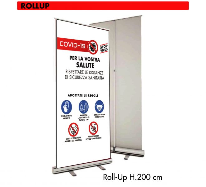 Roll-Up Covid-19 Stamperia Marconi Pordenone