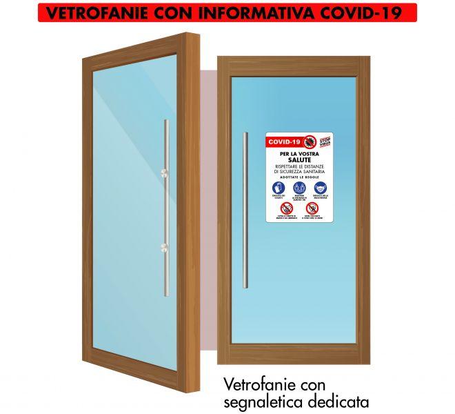 Vetrofania Covid-19 Stamperia Marconi Pordenone