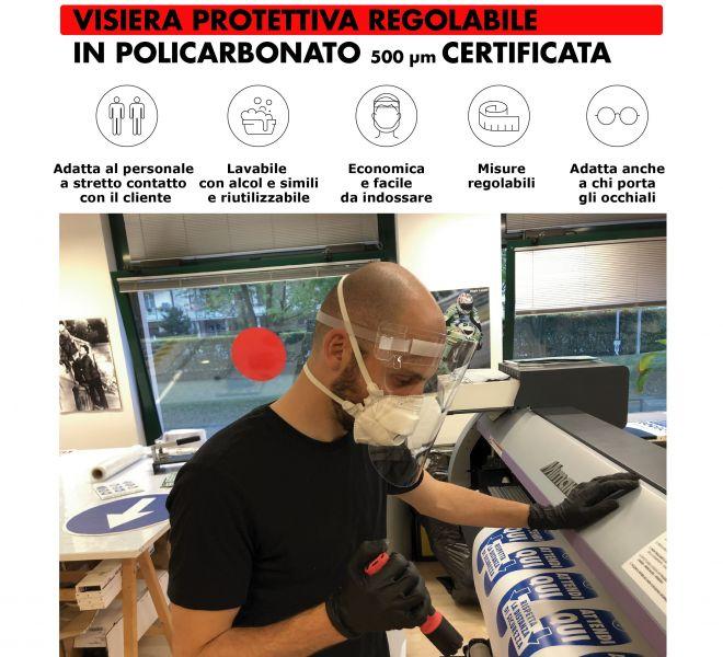 Visiera Covid-19 Stamperia Marconi Pordenone